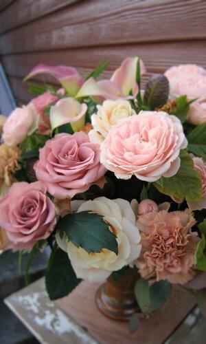 アンティークシャドウ■花 アレンジメント 花束 ローズ ばら 薔薇 記念日 結婚祝い 贈り物...