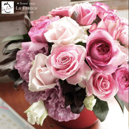バラの贈り物・ローズコレクション 花 アレンジメント 花束 ローズ ばら 薔薇 記念日 結婚...