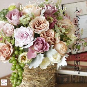 バラの贈り物・ローズコレクション【花ギフト】 フラワー ギフト 誕生日 花 アレンジ 花束 プ...