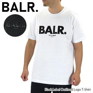 【並行輸入品】BALR. ボーラー Black Label Outlined Logo T Shirt メンズ Tシャツ 半袖 ブラック ホワイト ストリート スポーティ『ポイント最大44倍!お買い物マラソン』