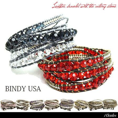 【ネコポス可】LA直輸入☆入手困難【BINDY USA-ビンディー・ユーエスエー-】Wrap Leather Bracelet-本革レザーブレスレット-[メンズ・レディース・ユニセックス・アクセサリー・ギフト]■