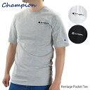 【ネコポス配送:1枚まで】Champion チャンピオン Heritage Pocket Tee ヘリテイジ ポケット Tシャツ メンズ ユニセックス ロゴ 胸ポケット〔T5075〕