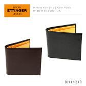 【送料無料】【2016】『Ettinger-エッティンガー-』Billfold with 6c/c&Coin Purse〔BH142JR〕[ メンズ 二つ折り財布 ブライドルレザー ]