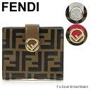 【10/19〜最大2000円OFFクーポン配布中 10/25迄】FENDI フェンディ F is Fendi Bi fold wallet[8M0386AAFMF]