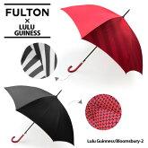【同梱不可】【FULTON-フルトン-】Bloomsbury-2LuluGuinnessモデル長傘〔L723〕[フルトン×ルルギネスコラボブルームズベリーレディース長傘かさジャンプワンタッチ]《ご返品交換不可》