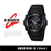 【予約】【CASIO-カシオ-】G-SHOCK〔AWGM100B-1A〕アナデジ電波ソーラー[カシオメンズG-ショック腕時計時計黒]《6月16日前後発送予定》