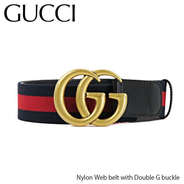 メンズバッグ, ボディバッグ・ウエストポーチ 500OFFGUCCI Nylon Web belt with Double G buckle G 409416 H17WT 8632