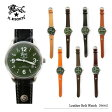 【予約】【送料無料】【IL BISONTE-イルビゾンテ-】Leather Belt Watch-レザーベルト腕時計- [緑文字盤][H0502][メンズ・腕時計・専用ケース]《ご注文後3日前後発送予定》