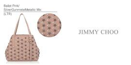 《納期要確認》【送料無料】【2015S/S】【JIMMYCHOO-ジミーチュウ-】SASHASトートバッグ[スタースタッズ・レザー・ショルダーバッグハンドバッグ]