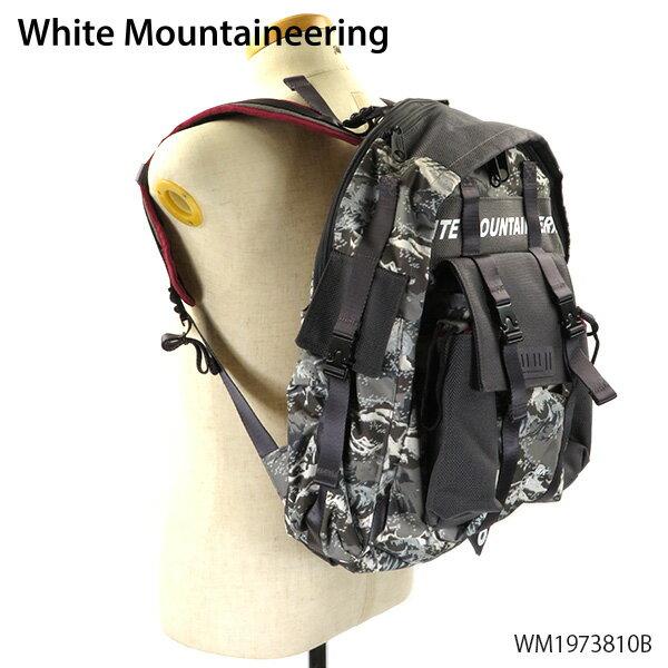 メンズバッグ, バックパック・リュック 2019 AWWhite Mountaineering--WMEASTPAK Mountain Wave Printed Multi Pocket WM1973810B