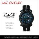 【送料無料】【LaGアウトレット】【訳あり:ガラスにキズ/針の色落ち】【GaGa MILANO-ガガ ミラノ-】Chrono 48MM PVD 6054.1 Black[6054.1]