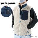 【最大1000円OFFクーポン配布中】【お一人様1点まで】Patagonia パタゴニア Classic Retro-X Vest メンズ クラシック レトロX ベスト 袖なし ボア 刺繍 23048 NAT