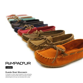 【期間限定レビューを書いて送料無料】【11collar】【Pompadour-ポンパドール-】SuedeBoatMoccasin-スウェードボートモカシンシューズ-[レディース靴フラットぺたんこパンプススニーカー]
