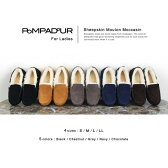 『Pompadour-ポンパドール-』Mouton Moccasin-ムートン モカシン-[14511][レディース・ぺたんこ・本革・リアルスウェード・リアルファー ボア・ローファー]