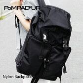 『Pompadour-ポンパドール-』Nylon Backpack-ナイロン バックパック-[専用保存袋付き][ユニセックス メンズ レディース リュック デイパック ブラック バックパック 軽量 30l]