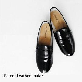 【2015NEW】【Pompadour-ポンパドール-】PatentLeatherLoafer-パテントレザーローファー-[PD053][レディースシューズパンプスペタンコエナメルリアルレザー本革フラットオペラシューズ]