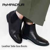 【2015NEW】【Pompadour-ポンパドール-】LeatherSideGoaBoots-レザーサイドゴアブーツ-[レディースシューズショートブーツミディアムリアルレザー本革]