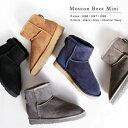 『Pompadour-ポンパドール-』Mouton Boot Mini-シープスキン ムートン ブーツ ミニ-[レディース リアルファー 本革]