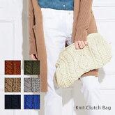 【Pompadour-ポンパドール-】KnitClutchBag-ケーブルニットクラッチ-