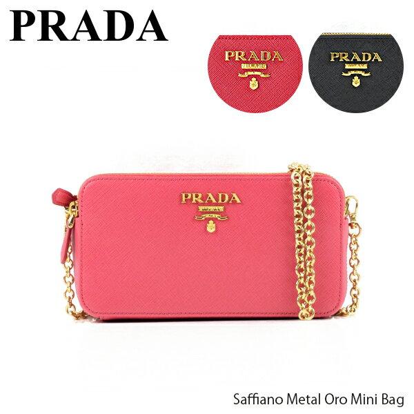 レディースバッグ, ショルダーバッグ・メッセンジャーバッグ 500OFFPRADA Saffiano Metal Oro Mini Bag 1DH010 QWA