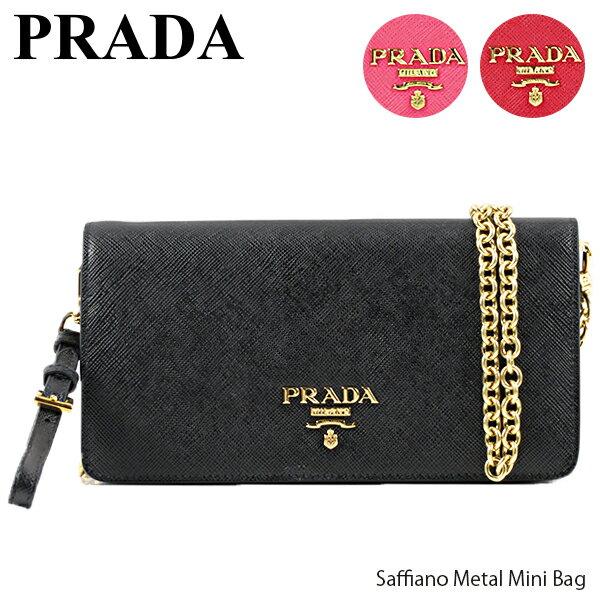 レディースバッグ, ショルダーバッグ・メッセンジャーバッグ 500OFFPRADA Saffiano Metal Mini Bag 1DH029 QWA