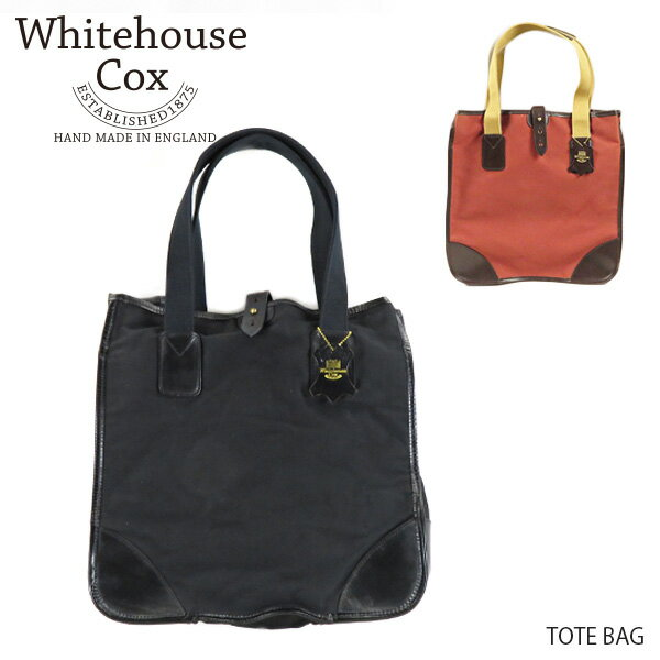 メンズバッグ, トートバッグ Whitehouse Cox TOTE BAG L9070 Black Conker Havana