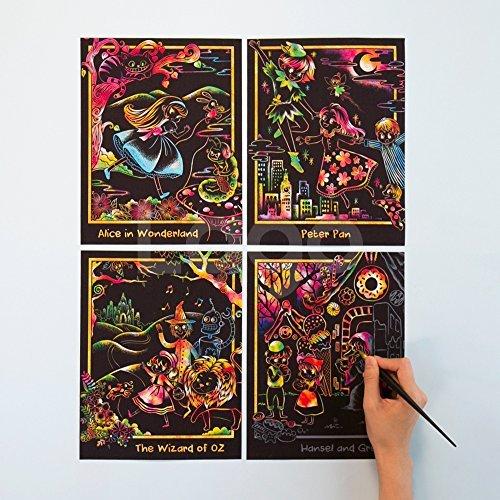 ピーターパンアリスヘンゼルとグレーテルオズの魔法使いキッズSTマークスクラッチアート大人の趣味削り塗り絵女子高生雑貨塗り絵