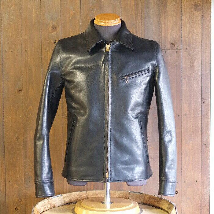 メンズファッション, コート・ジャケット smtb-tkY2 LEATHER(HVR-42HVHV HORSE SINGLE RIDERSBLACK MADE IN JAPAN