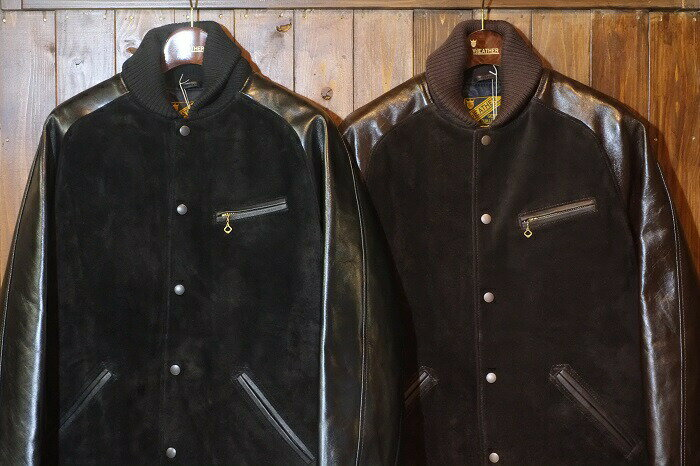 メンズファッション, コート・ジャケット Y2 LEATHER(PB-147STEER SUEDExVINTAGE PONY Pharaoh JKT MADE IN JAPAN