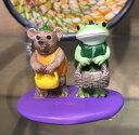 【copeau:コポー】お菓子ちょーだい<樹脂・ミニチュア・アニマル・アジアン・エスニック・置物・おもちゃ・ギフト・ハロウィン>