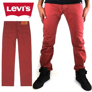 リーバイス Levi's 501 オリジナルフィット ボタンフライ メンズ デニム パンツ ジーンズ レッド