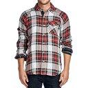 リーバイス Levis メンズ ネルシャツ ウエスタンシャツ チェック コットン フランネル トップス ファッション レッド/ホワイト