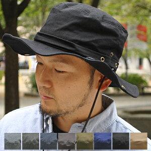 紫外線対策、小顔効果!2サイズ展開☆ 大きいサイズ ☆2WAY サファリハット 洗える帽子 アドベ...