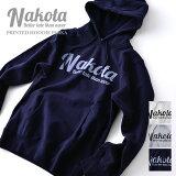 nakotaナコタprintedhoodieparkaプリントスウェットプルオーバーパーカー12.0オンス