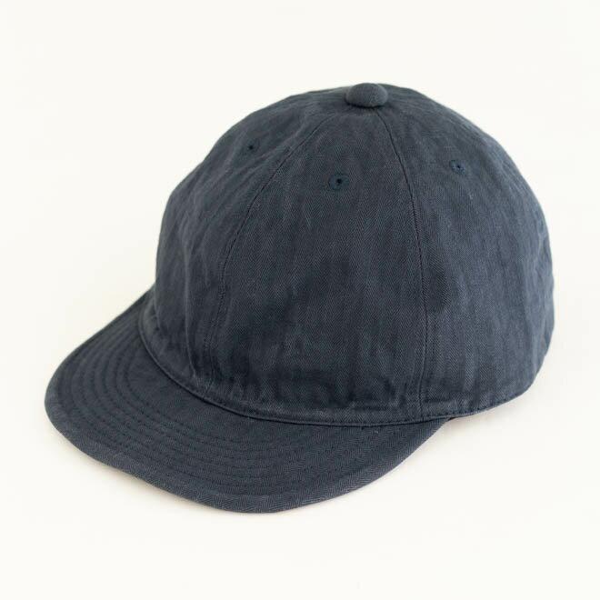 HIGHER ハイヤー ヴィンテージヘリンボンキャップ 帽子 無地 シンプル カジュアル メンズ レディース 春 夏 日本製