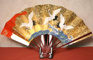 飾り扇子(大)鶴