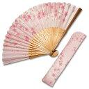 布扇子 扇子袋 セット 女性用 「花の詩 桜」 差し袋セット