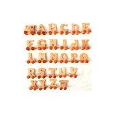 アルファベット トレイン オブジェ ウェルカム インテリア イニシャル ナチュラル おもちゃ プレゼント ブライダル ウェディング