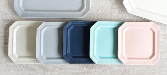 【作山窯-SAKUZAN-】SAKUZAN DAYS Sara サラ スクエアプレートS 11cm 菓子皿 お皿 醤油皿 小皿 カフェ 磁器 日本製 陶器画像