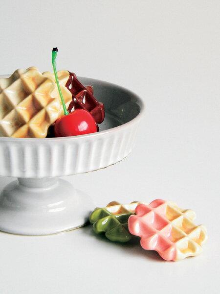 ワッフル/スウィーツレスト/箸置き/陶器製/日本製/レスト/食品サンプル