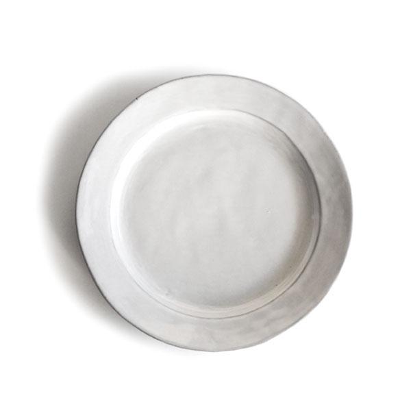 【Saveur】サヴール プレート 21cm 丸皿 ラウンド パン皿 取り皿 黒土 グレイ カフェ ロロ 日本製