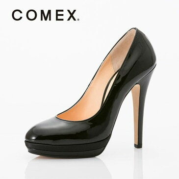 【¥2000OFFクーポン】COMEX コメックス エナメル パンプス ブラック キャバパンプス ハイヒール キャバ ヒール 13cm ピンヒール 21.5 22.0 22.5 23.0 23.5 24.0 24.5 SS S M L LL 厚底 美脚 靴 シンプル 黒 フォーマル 歩きやすい 痛くない 疲れにくい ブランド