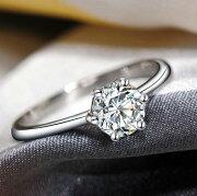 結婚指輪リング婚約指輪S925Pt18K3度コーティングSilverダイヤモンド輝き指輪シルバーリング誕生日プレゼントシルバーリングプラチナ仕上指輪