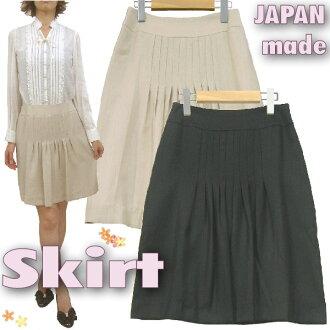 在日本女士 ★ 前裙裙子及膝掖裙子出售日本製造裙子婦女裙子基本經典及膝裙子膝蓋長度的裙子女性少女休閒 10 P 10 Jan15 10P18Jan15