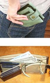 ベラ付二つ折り財布レブレシリーズ
