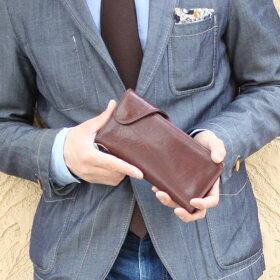 「メンズ長財布」イタリア牛革財布イタリーシリーズLaMareeItaly【男性用】