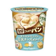 ポッカサッポロじっくりコトコト こんがりパンまろやかなコクの豆乳チーズポタージュ×6個【ボ...