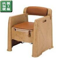病院・施設での使用に最適アロン化成 安寿 背付ポータブルトイレ AD 533-125