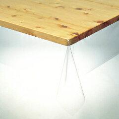 明和グラビア 3点機能付 透明テーブルカバー KMGK-1815 120×150cm[厚0.18mm] テーブルクロス
