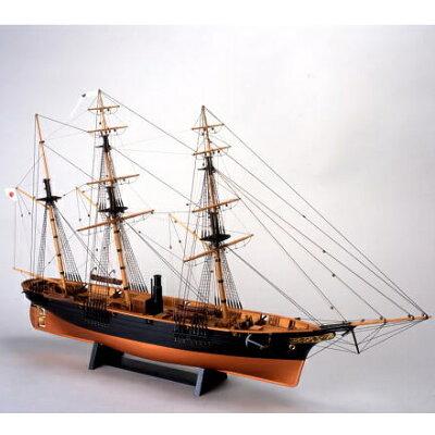 【お取寄せ】【送料無料】 ウッディジョー 木製帆船模型 1/75 咸臨丸[帆無し]レーザーカッ...